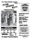 Quo Vadis Theatre Company Presents ¡Viva Cristo Rey!